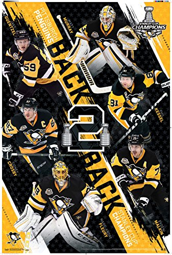 "Trends International 2017 Pittsburgh Penguins Nhl Stanley Cup Champions Collector's Edition Wall Poster, 24"" x 36"""