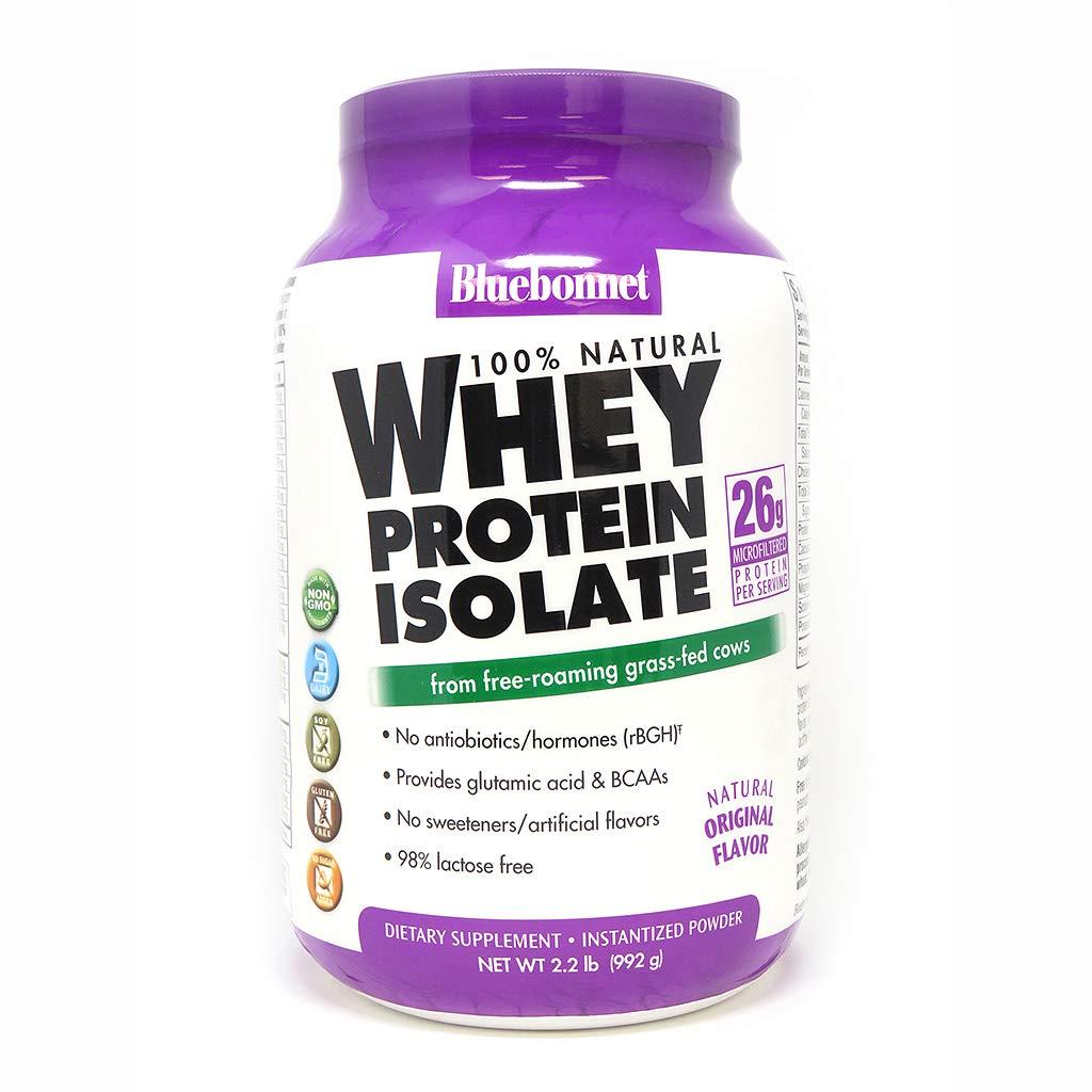 Bluebonnet Nutrition Whey Protein Isolate Powder, Original Flavor, 2.2 Pound