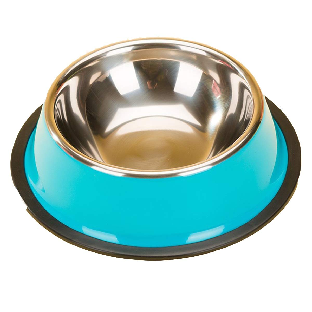 bluee S bluee S XIAN Painted Stainless Steel Non Spil Bowl, Pet Dog Supplies, Puppy Pots, Dog Bowl Single Bowl, bluee Painted Stainless Steel Pet Bowl, Solid color Easy to Clean Non-Skid Bowls for Dogs