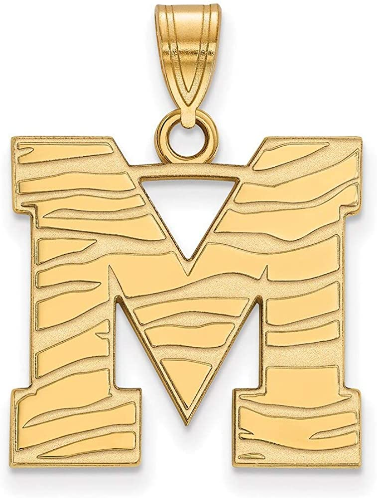Lex /& Lu LogoArt 10k Yellow Gold University of Memphis Large Pendant LAL131775