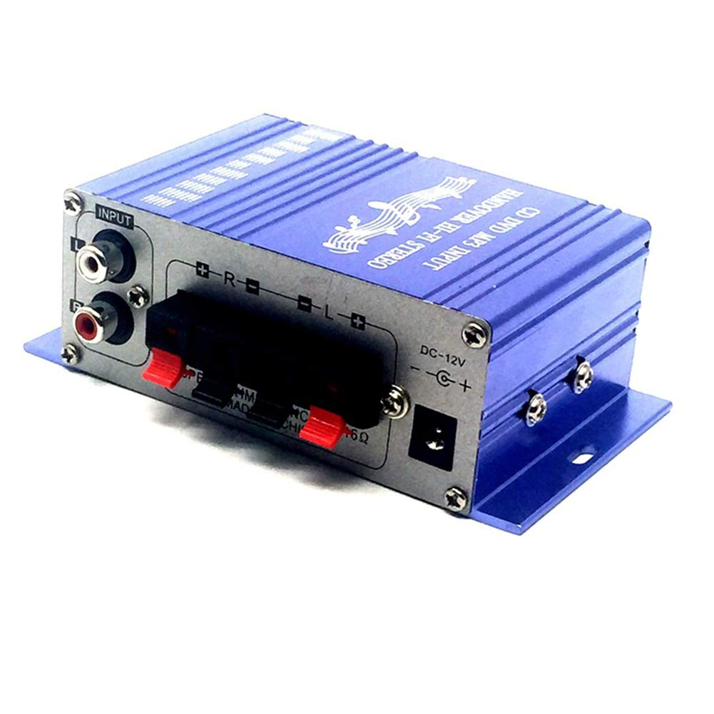 XuBa 12V 2CH Mini Hi-Fi Stereo Audio Small Amplifier AMP for Car Motorcycle Radio MP3 red