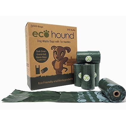 Ecohound 300 bolsas biodegradables para perro con asas de ...
