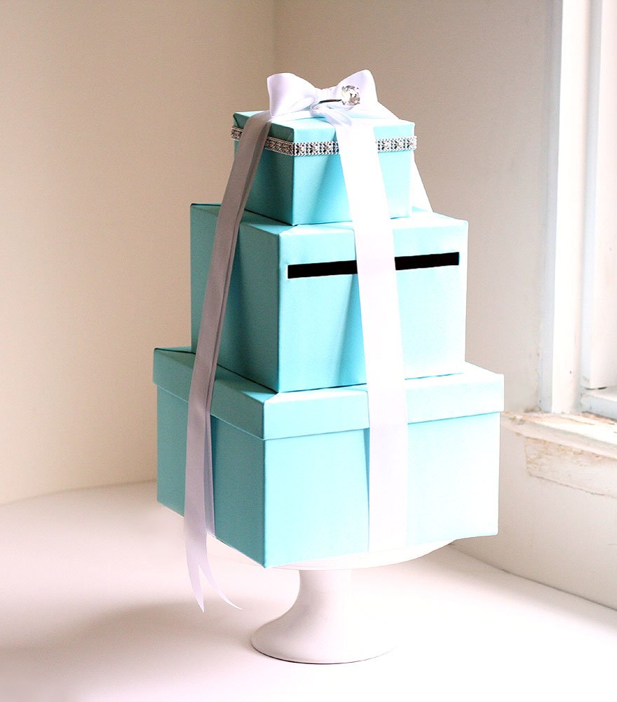 Wedding Card Box, Decorative Boxes (Tiffany Blue) by The Wedding Main St