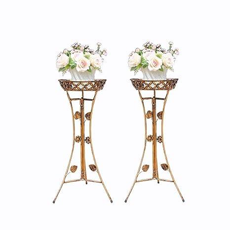 Amazon.com: Soporte de hierro con diseño de flores ...