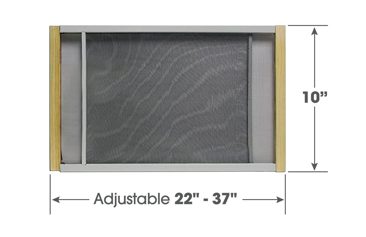 Adjustable Window Screen Built To Help Air Circulate Through Your Home, Adjusts Its Width Within a Range of 22'' - 37'' - 10 in high, Installs in Seconds No Tools Needed
