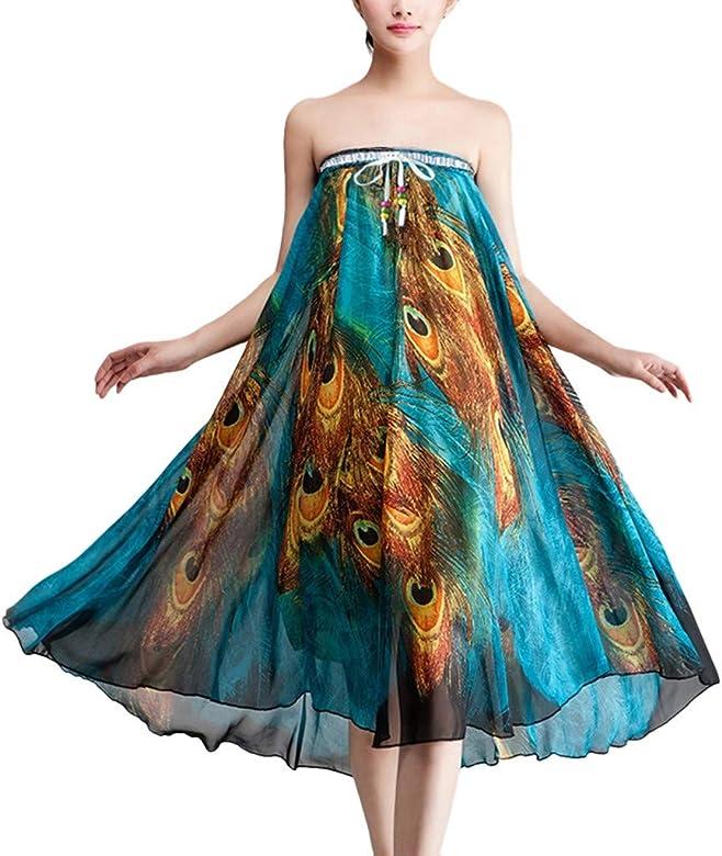 Qijinlook 💖 Faldas largas Mujer Fiesta Elegante💖Falda de Plumas ...