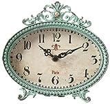 Lily Table Clock, 6.25″Hx6.5″Wx2.25″D, MINT GREEN