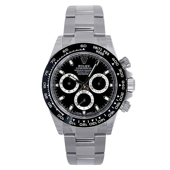 Rolex Daytona Reloj De Bisel De Cerámica De Color Negro de acero inoxidable de 40 mm