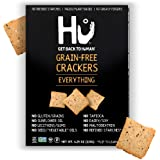 Hu Gluten Free Crackers   Everything 2 Pack   Keto Friendly, Gluten Free, Grain Free, Low Carb, No Added Oils, No Refined Sta