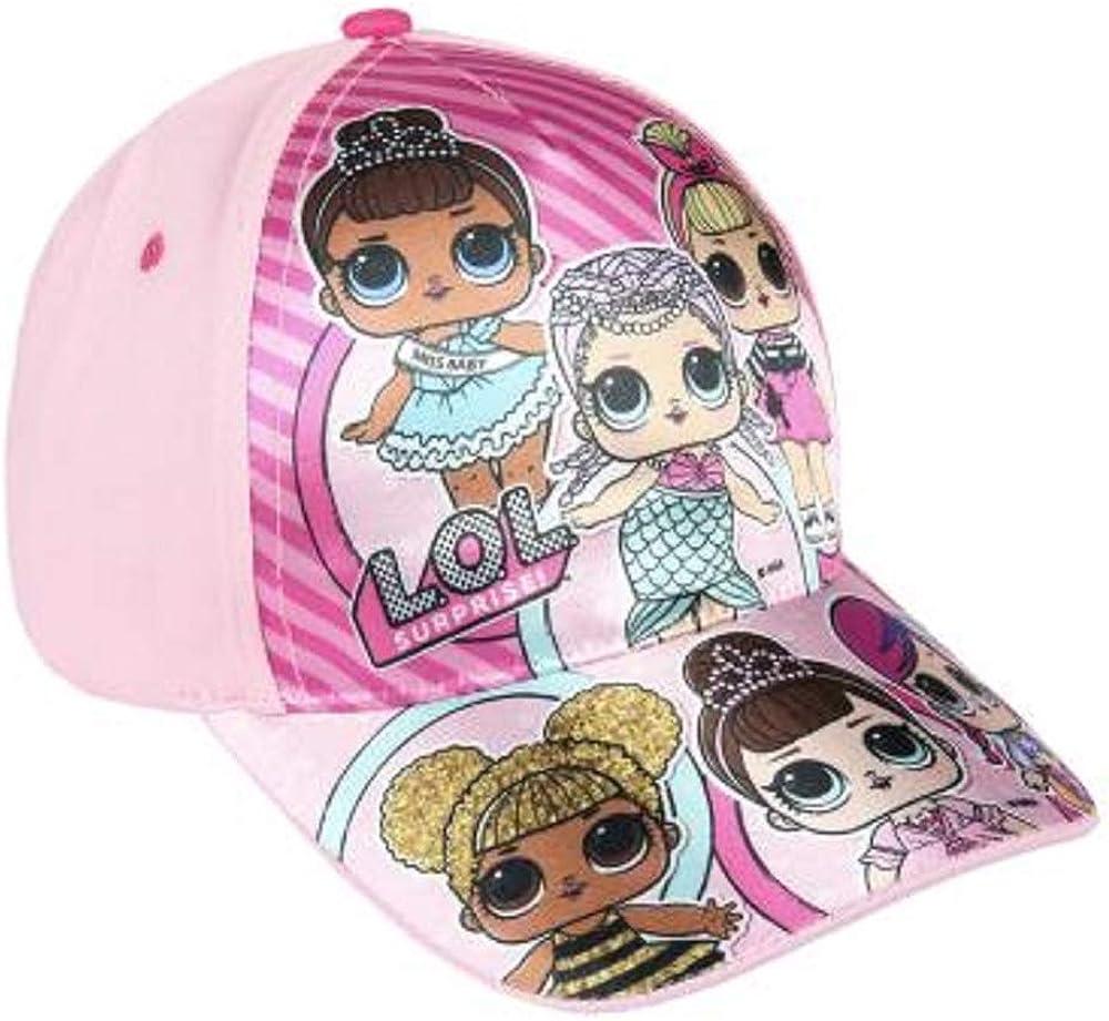 Surprise Prodotto Ufficiale Accessori Bimba Bambole LOL Confetti Pop per L/'Estate Nero Cappellino con Visiera per Bambini in Olografico Rosa O Glitter L.O.L Berretto da Baseball Bambina