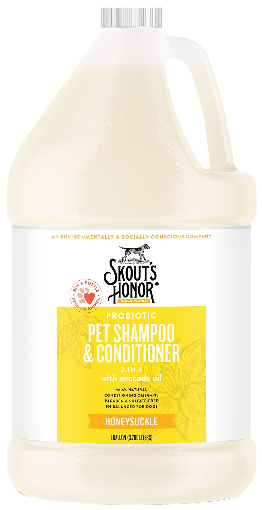 SKOUT'S HONOR Probiotic Pet Shampoo & Conditioner (2-in-1) - 1 Gallon