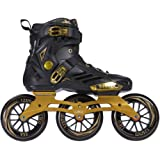 LIKU Performance 125 3WD Speed Inline Skates Black&Gold Racing Skate for Men and Women