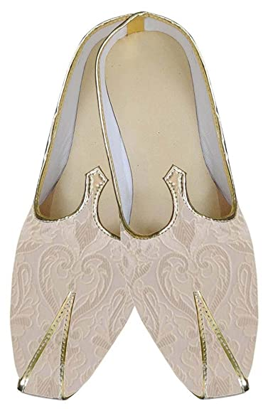Mens Ivory Indian Wedding Stylish Shoes MJ0162