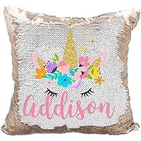Personalized Mermaid Reversible Sequin Pillow, Custom...