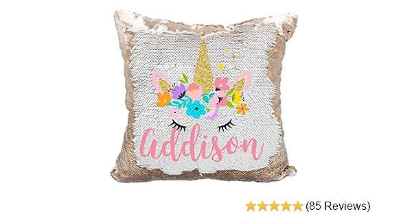Amazon.com  Personalized Mermaid Reversible Sequin Pillow 69ae72c681