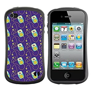ArtSpace Premium Hybrid Back Case Cover Apple iPhone 4 / 4S ( cute iPod )