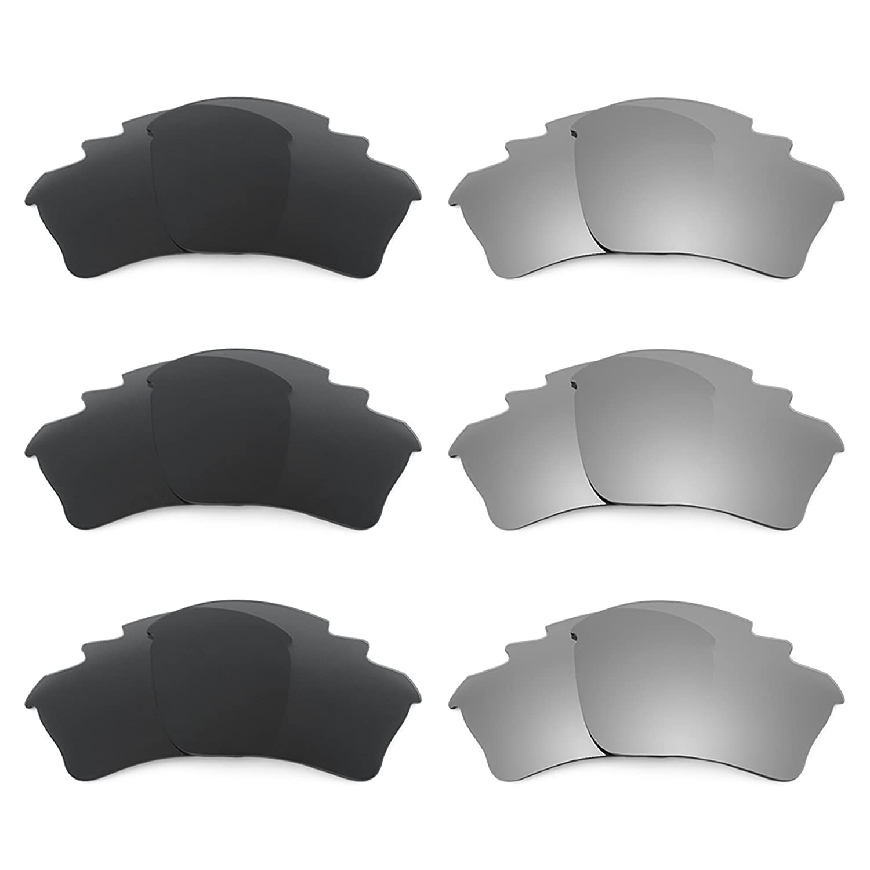 Oakley Half Jacket XLJ Vented 用Revant交換レンズ 偏光6 ペアコンボパック K028   B01CGY6XRQ
