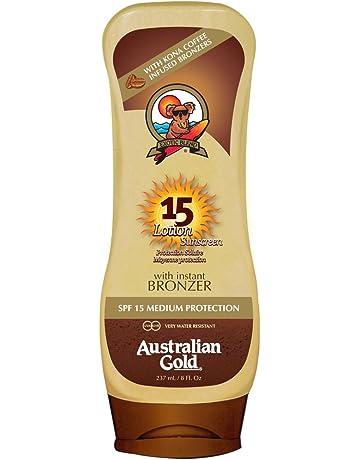 Australian Gold Sunscreen Lotion Protector Solar con Autobronceador SPF15-237 gr