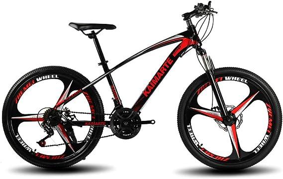 OD-B Bicicleta De Montaña De 24 Pulgadas Bicicleta con Marco De Acero De Alto Carbono Frenos De Doble Disco Bicicleta Rueda De Radios Y Rueda De Cuchillo: Amazon.es: Deportes y aire libre