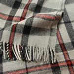 Thomson Grey Tartan Wool Blanket Trav...