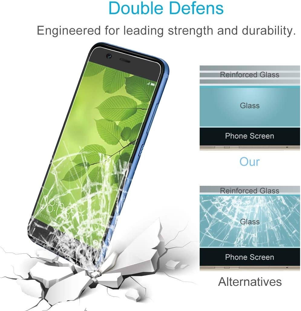 Wangl Mobile Phone Tempered Glass Film 100 PCS for Huawei nova 2 Lite 0.26mm 9H Surface Hardness 2.5D Explosion-Proof Tempered Glass Screen Film Tempered Glass Film