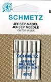 SCHMETZ Nähmaschinen-Nadeln Flachkolben JERSEY 130/705 H-SUK No. 80er, 5 Stück