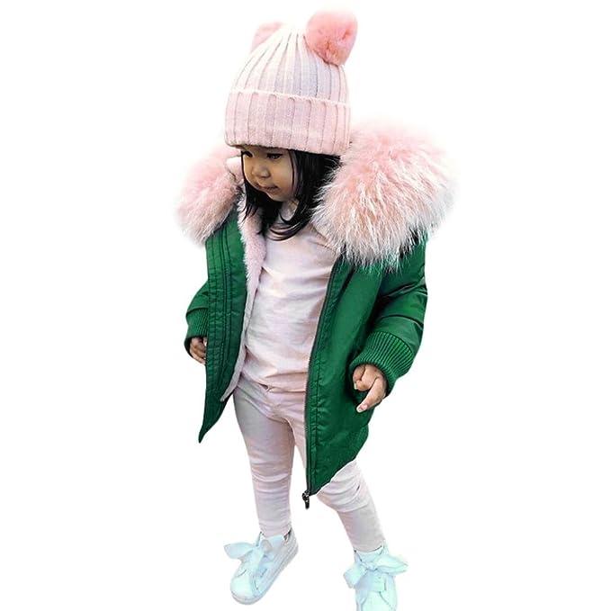 AIMEE7 Ropa niña Chaqueta niña Abrigo, Abrigos niña Invierno Bebé Niño abrigoChaqueta con Capucha Acolchada con Capucha Gruesa Outwear 1-6 años: Amazon.es: ...