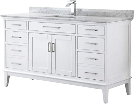 and 56 Inch Mirror No Sink No Countertop Margate 60 Inch Single Bathroom Vanity in White