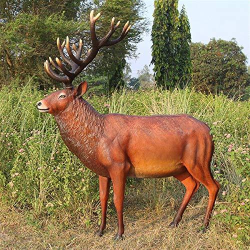 Design Toscano Grand Scale Red Deer Buck Statue
