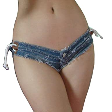 Yollmart women sexy cut off low waist denim jeans shorts-28687