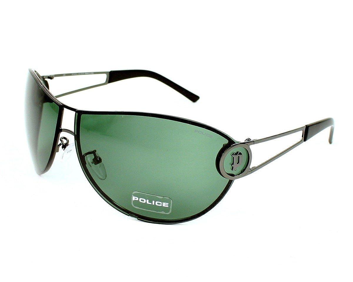 Police Sunglasses S 8489 568V Metal Gun Green Grey at Amazon ...
