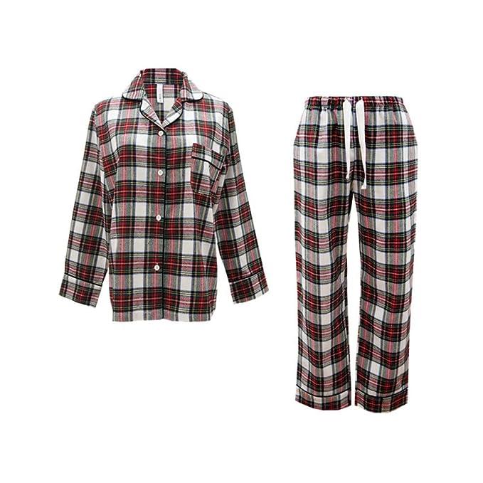 Wsxxnhh Pijamas De Lana De Pelo De Estilo Escocés Par De ...