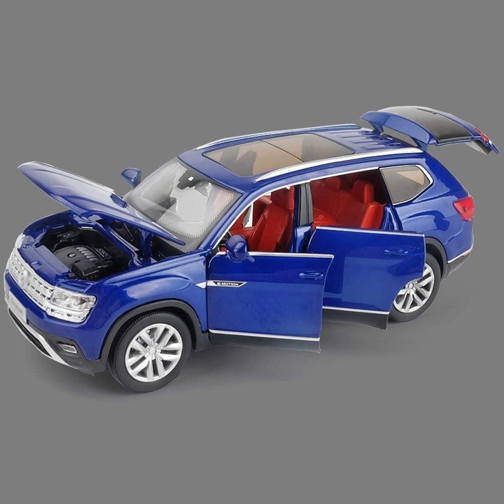 Pkjskh Modelo 6 de puertas abiertas de sonido y encenderse tire de la aleación de coches de juguete modelo de 1:32 analógico aleación niños de simulación de coches de juguete de tirar hacia atrás de c