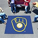 "MLB - Milwaukee Brewers """"Ball in Glove"""" Tailgater Rug 60""""x72"""""