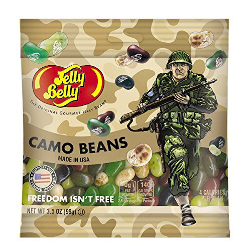 Jelly Belly Freedom Fighters Camo Jelly Beans, Assorted Flav