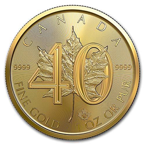 2019 CA Canada 1 oz Gold Maple Leaf 40th Anniversary BU 1 OZ Brilliant -