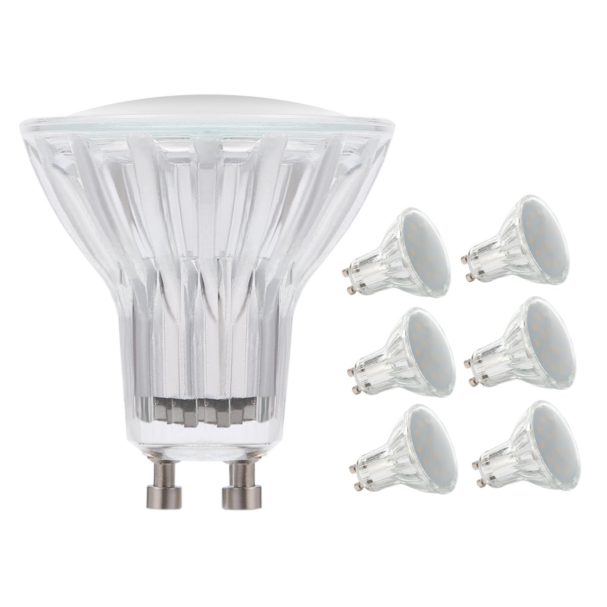 Mr16 Gu10 Led Bulbs Dimmable 7w 50w Equivalent 3000k: LAKES Dimmable (0-100%) GU10 MR16 LED Bulbs 50W Equivalent