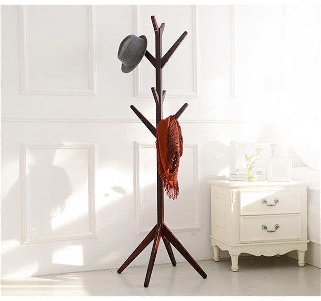 AIDELAI Coat Rack Solid Wood Coat Rack Creative Retro Bedroom Living Room Hotel Rooms Vertical Landing Hangers (Size : A)