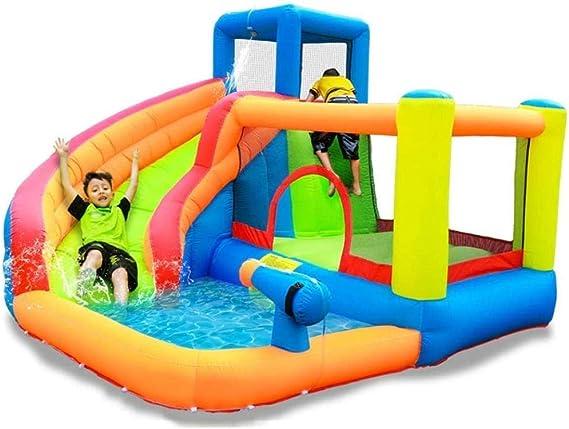 YF-SURINA Piscinas infantiles para niños Casa hinchable para saltar con saltador de diapositivas Piscina de agua Centro de actividades Castillo y área de pistolas para escalar: Amazon.es: Bricolaje y herramientas