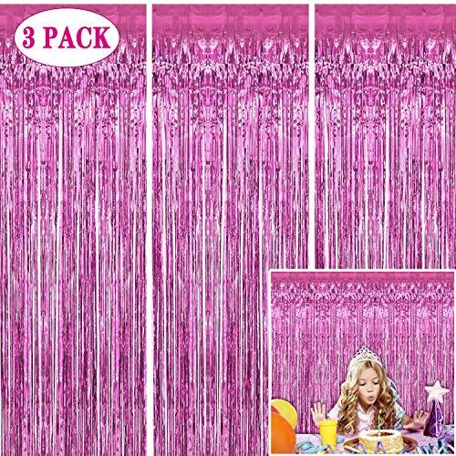 Foil Fringe Curtains Backdrop - Choice of 7 Colors
