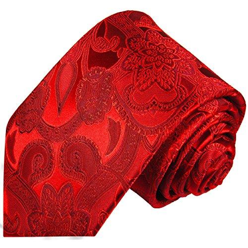 Cravate homme rouge paisley 100% cravate en soie ( longueur 165cm )