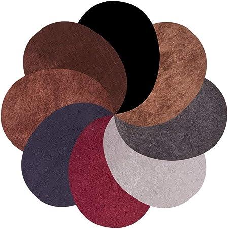 PandaHall - 16 Parches para Sudadera, Camiseta, Blusa, Tops, Accesorios, 8 Colores, ovalados, Codos, Ante y Tela ...