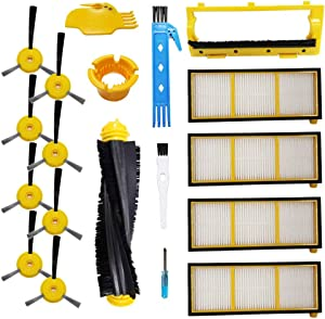 Theresa Hay Filter and Brushes, Brushes Cover Replacement Kit for Shark ION Robot RV750, RV720, RV700, RV750C, RV755,Replaces Part # RVFFK700