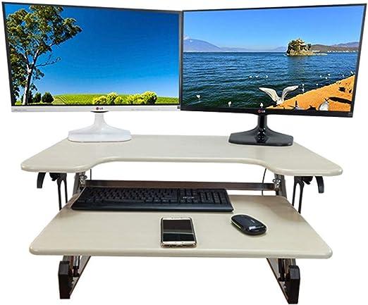 Framy Mesa De Pie, Altura Ajustable Convertidor De Mesa Vertical ...