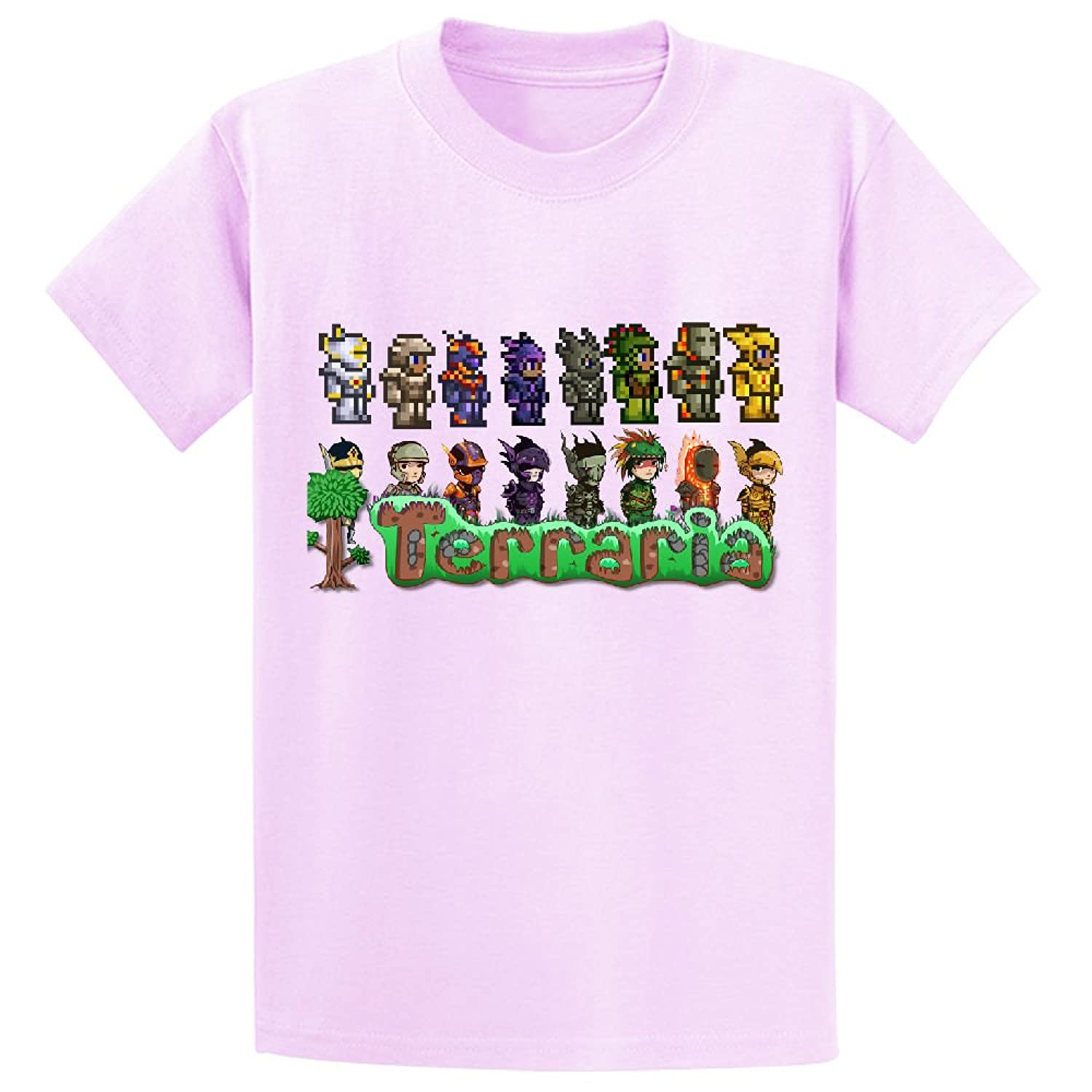Toypop Terraria Concept And Pixel Art Youth Cotton Crewneck Tshirts Custom