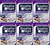 Breathe Right Calming Lavender Scented Drug-Free Nasal Strips for Nasal Congestion Relief, 6 Pack of 26, 156 Count Total