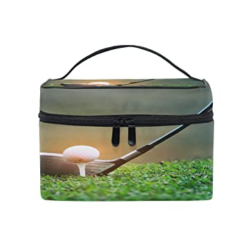 874bb01aeefb Amazon.com : XMCL Art Painting Golf Ball Portable Cosmetic Bag ...