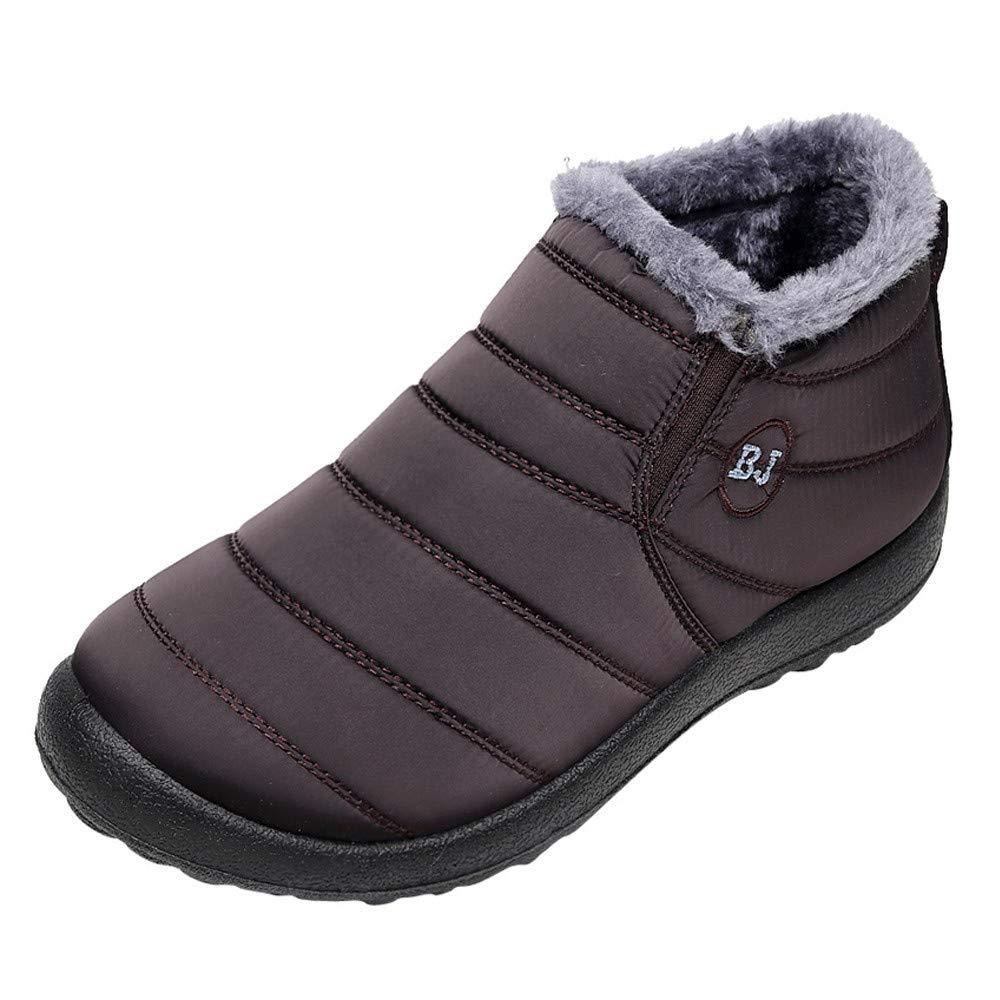 Chaussures Hiver Homme Solide Cheville Chaude Plus Velours Plat Bottes De Neige Shoes Mode VonVonCo2018080005