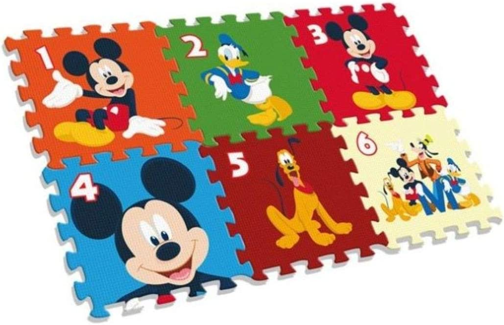 Kids- Mickey Alfombra-Puzzle Eva Suelo 90X60 Cm, Multicolor (WD20122)