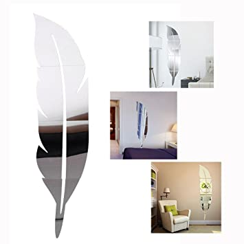 Spiegel Folie Selbstklebende Wandspiegel//Dekorative Fliesen Wandtattoo Wandbild